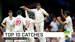 Counting down the top 10 catches of the Aussie Test summer