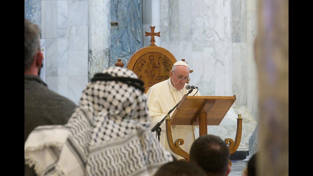 مشاهد تاريخية من زيارة البابا فرانسيس إلى قرقوش في العراق  - 13:00-2021 / 3 / 7