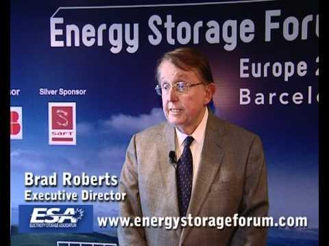 Brad Roberts, Electricity Storage Association @ Energy Storage Forum 2010 Barcelona Part 1