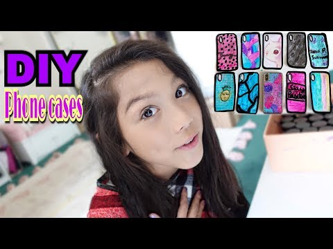 DIY Phone case designs - How to make custom phone covers tutorial