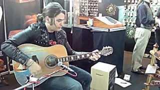 PJ d'Atri jamming at TimberTones Booth in Frankfurt Musikmesse 2013 - part 1