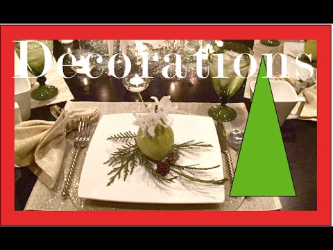 How to Set the table - Christmas Decorations - Setting your Table for a Party