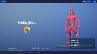 Buying & Gifting The NEW Tfue 'KING FLAMINGO' Fortnite Outfit (45,000 V-Bucks Spending Spree)