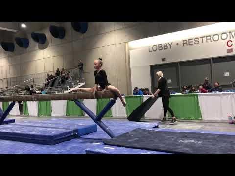 Audrey Jackson 1st Place Beam 2019 Cal Classic