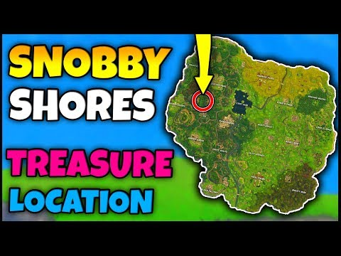 SNOBBY SHORES TREASURE MAP LOCATION! | Fortnite Week 3 Battle Pass Challenge Location