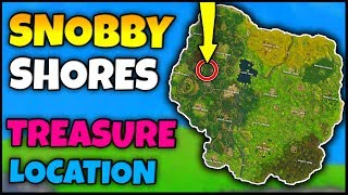 SNOBBY SHORES TREASURE MAP LOCATION! | Fortnite Week 3 Battle Pass Challenge Location