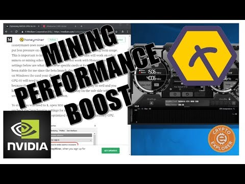 Increase Your Honeyminer Mining Performance (NVIDIA)