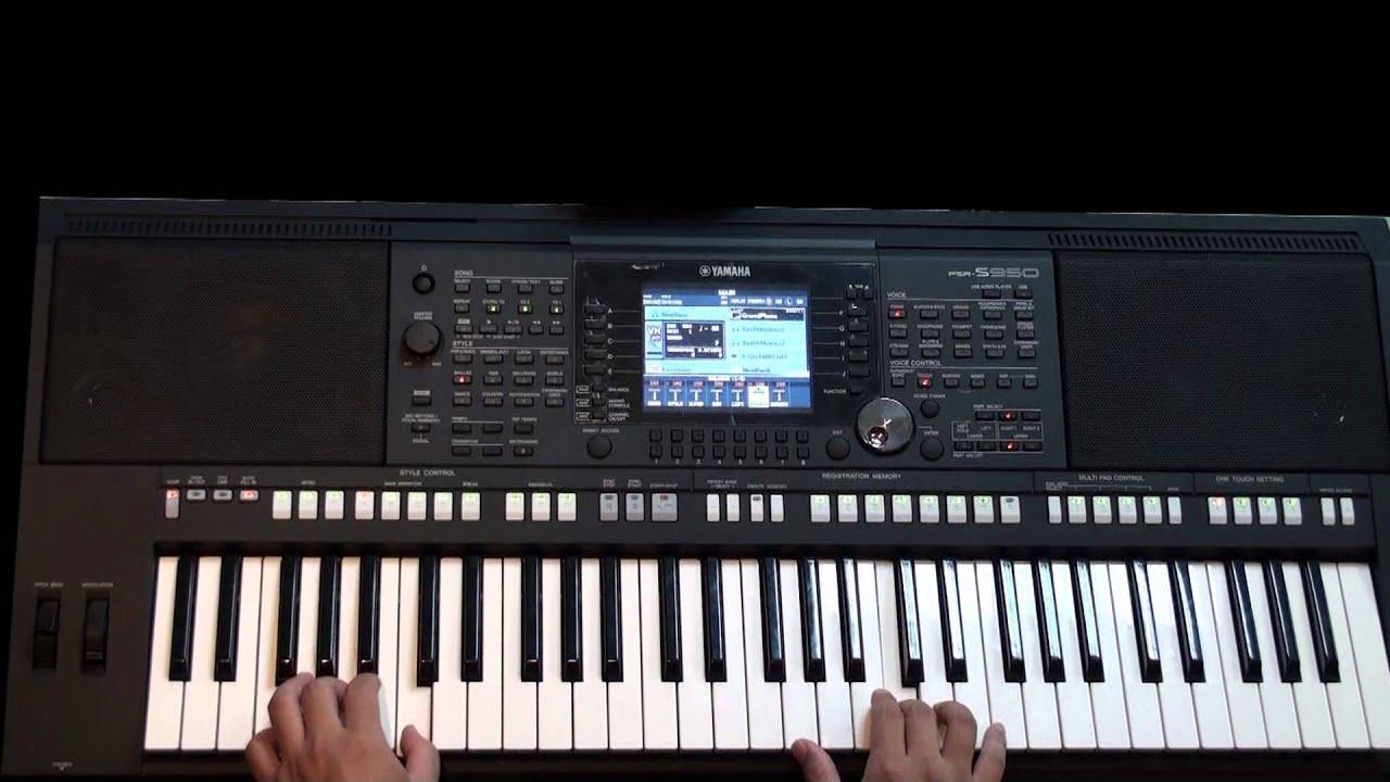 YAMAHA PSR-S950面板介紹和功能講解 3 (one touch setting)(免費線上電子琴教學伴奏) - YouTube