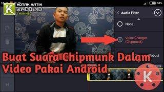 Cara Rubah Suara Dalam Video Jadi Suara Chipmunk Pakai Android