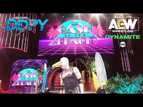 AEW DYNAMITE: BASH AT THE BEACH // DDP'S IN RING RETURN // WHAT IT'S LIKE TO ATTEND AN AEW SHOW LIVE