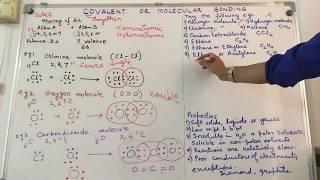 Covalent or Molecular Bonding