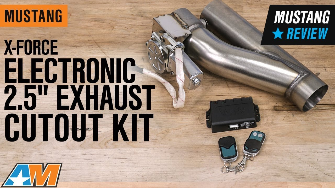 1979 2019 mustang x force electronic 2 5 exhaust cutout kit review