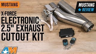 """1979-2019 Mustang X-Force Electronic 2.5"""" Exhaust Cutout Kit Review"""