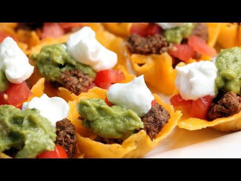 Nina Jackson - Super Bowl Recipes: Taco Cheese Cups