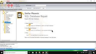 Repairing a Corrupt MDF File with Stellar Phoenix SQL Database Repair
