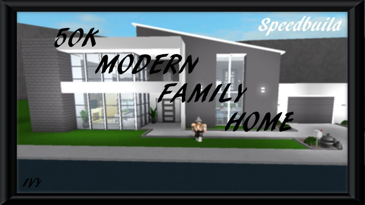 50k Modern Family Home Roblox Bloxburg Speedbuild Youtube