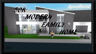 Bloxburg family home videos bloxburg family home clips for Build a house for under 50k