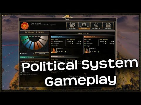Brand New Total War Rome 2 Political System Gameplay!