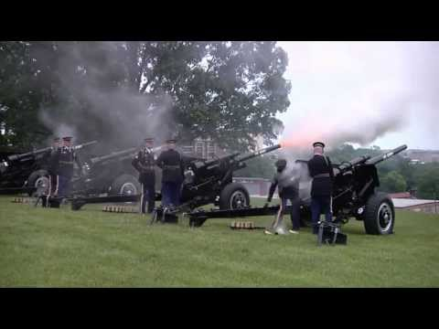 21-Gun Salute On Memorial Day 2013