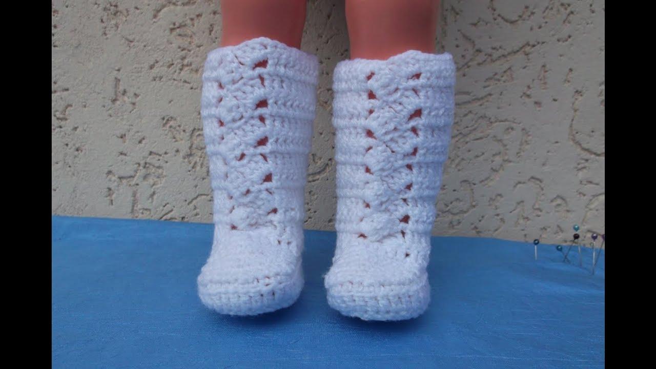 Как связать сапожки для куклы. How to relate boots to dolls. - YouTube