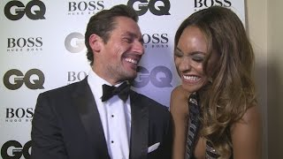 Jourdan Dunn and David Gandy get the giggles at GQ Men Of the Year Awards 2015