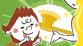 【絵本】金の斧 銀の斧(きんのおのぎんのおの)【読み聞かせ】世界の童話