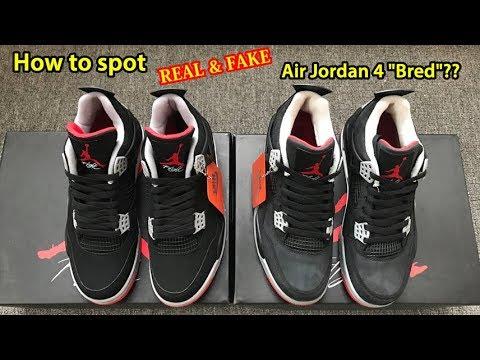 to spot Real \u0026 Fake Air Jordan 4 \