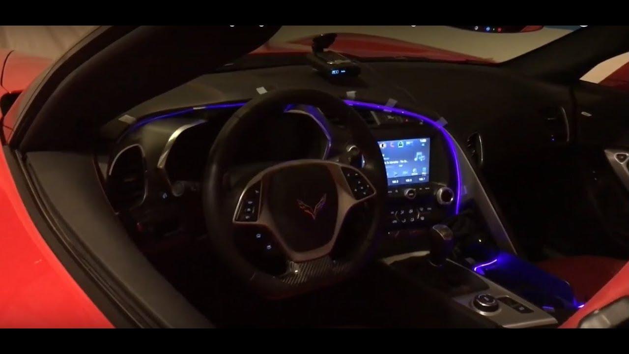 2017 Corvette C7 Cool Led Ambient Lighting Like Mercedes Audi Range Rover Camaro Youtube