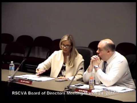 RSCVA Board of Directors Meeting March 24, 2016
