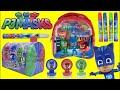 PJ MASKS Stamp, Stickers and Play Activity for Kids with Superheroes CATBOY, OWLETTE & GEKKO