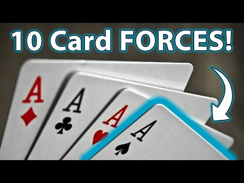 10 TOP Easy Ways To FORCE A CARD!! (Magic Tricks & How To)