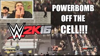 OMG HILARIOUS HELL IN A CELL MATCH WWE 2K16 Brock Lesnar vs Undertaker PS4 Gameplay