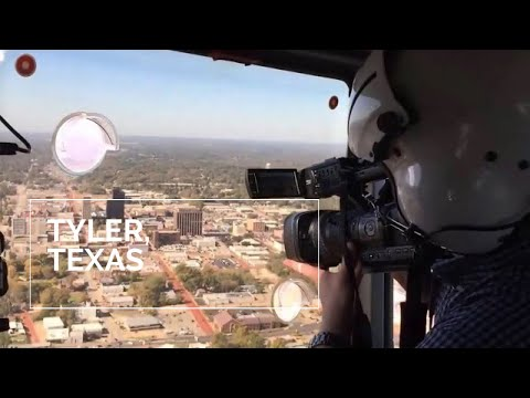 Helicopter tour over Tyler, Texas