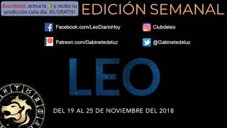 leo november 15-30th 2018 tarot