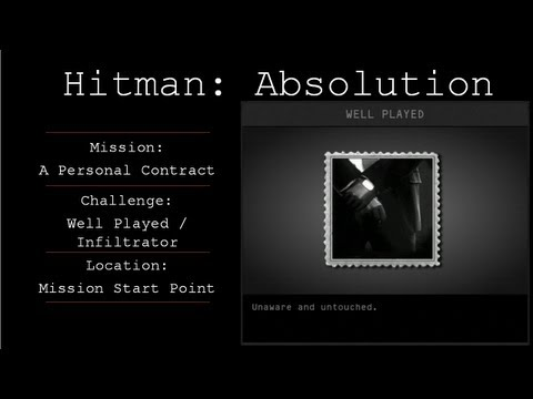 Hitman: Absolution Challenge Guide - Well Played / Infiltrator  - Mission 1