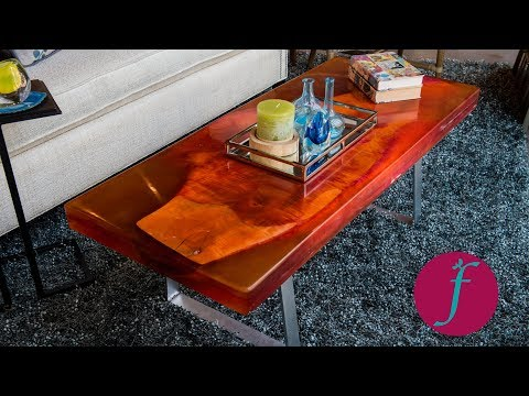 How to Make a Resin and Wood Slab Coffee Table