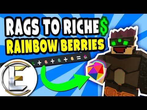 Rainbow Berries? | Unturned Roleplay Rags to Riches Reboot #23 - Farming Rainbow Berry (RP)