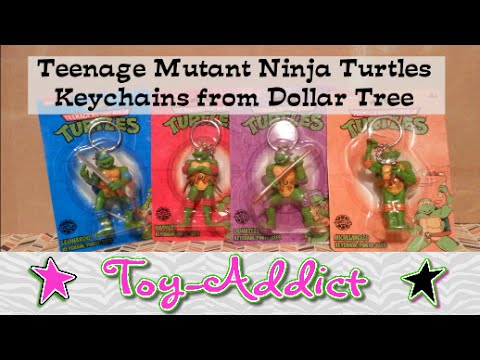 Teenage Mutant Ninja Turtles Keychains At Dollar Tree ~ Toy-Addict