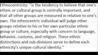 Ethnocentrism Defined and an Example