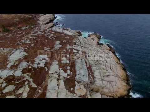 nova scotia rugged coastline waves and rocks bkhgqx3