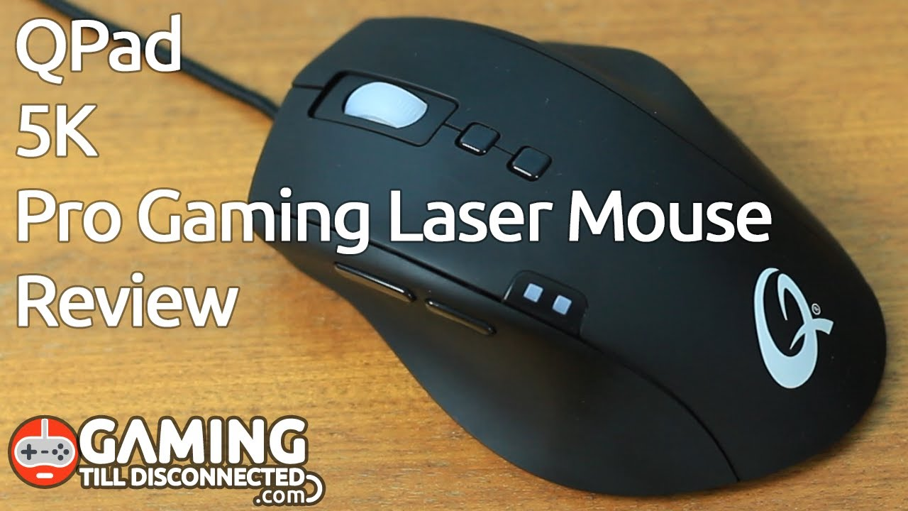 Review  QPad 5K Pro Gaming Laser Mouse - Gaming Till Disconnected - YouTube 89fe7c7e44cd5