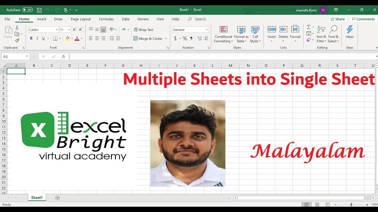Combine Data-Multiple Worksheets into Single Worksheet in ...
