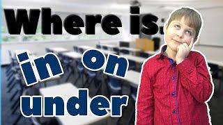 Англійська мова для дітей. In, on, under в англійській мові. Урок англ 1 клас, граматика