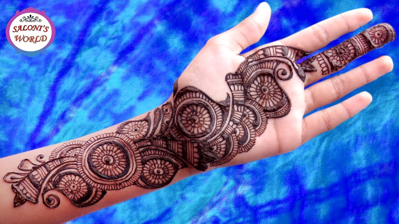 Easy And Simple Arabic Mehndi Designs For Full Hands Henna Tattoo