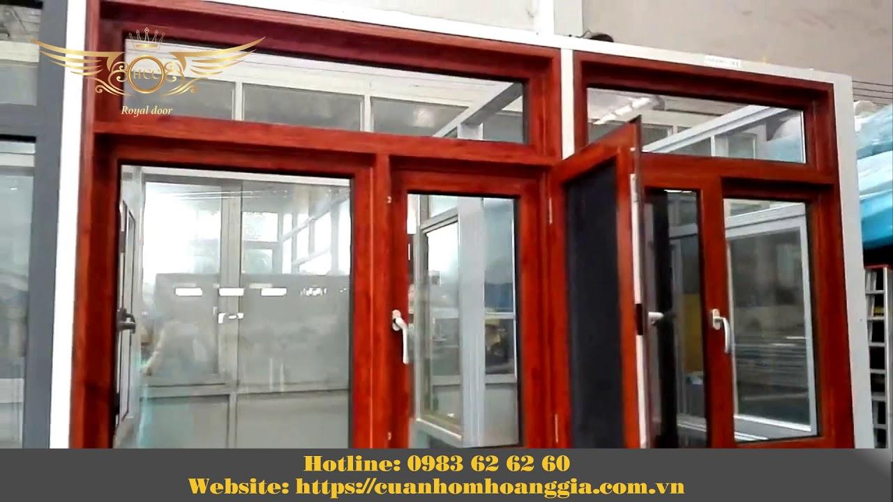 Cửa sổ kết hợp với cửa lưới chống muỗi, chống côn trùng