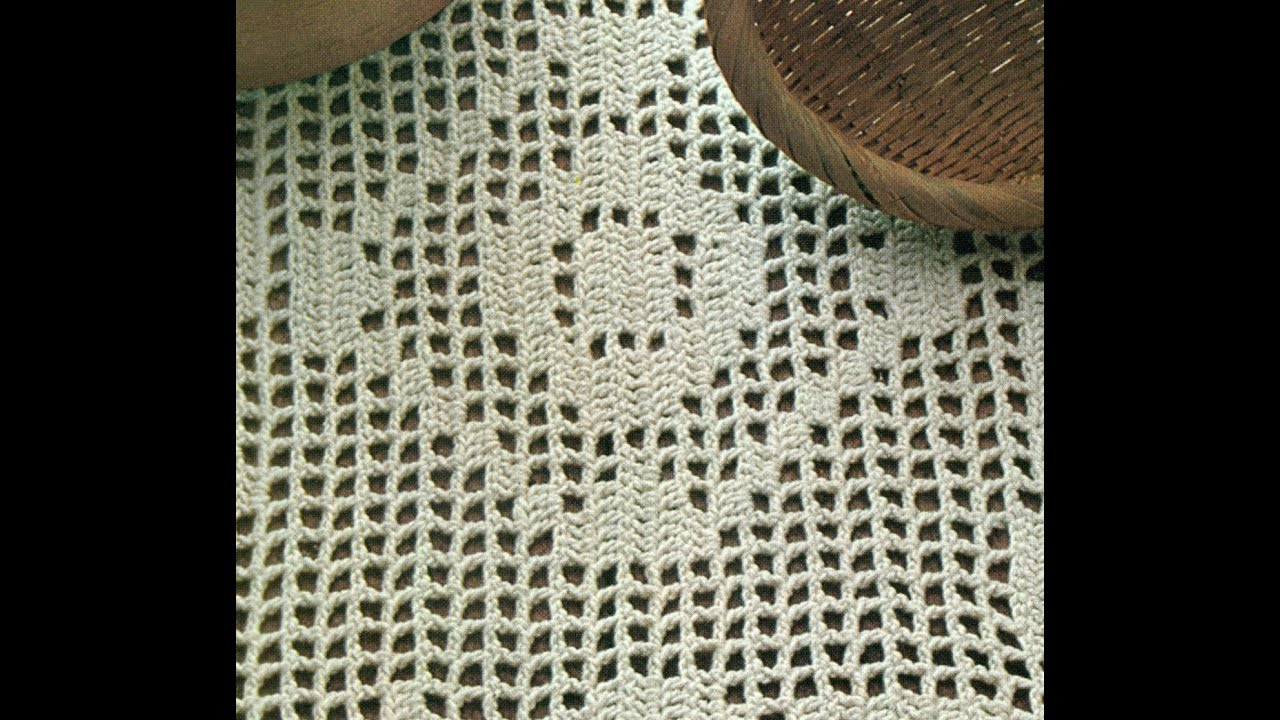 Esquemas para tejer tapete a ganchillo - YouTube