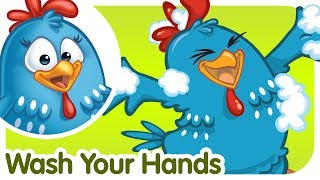 Wash Your Hands - Lottie Dottie Chicken - Kids songs and nursery rhymes in English