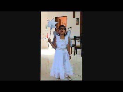 Angel in fancy dress competition