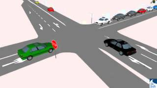 Two 2 Way Stop Traffic Simulation