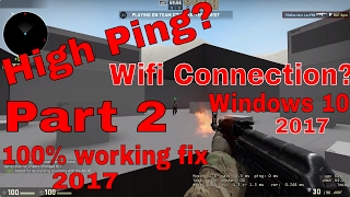 CS:GO High Ping Fix On A WiFi Connection For Windows 10 Part 2 thumbnail